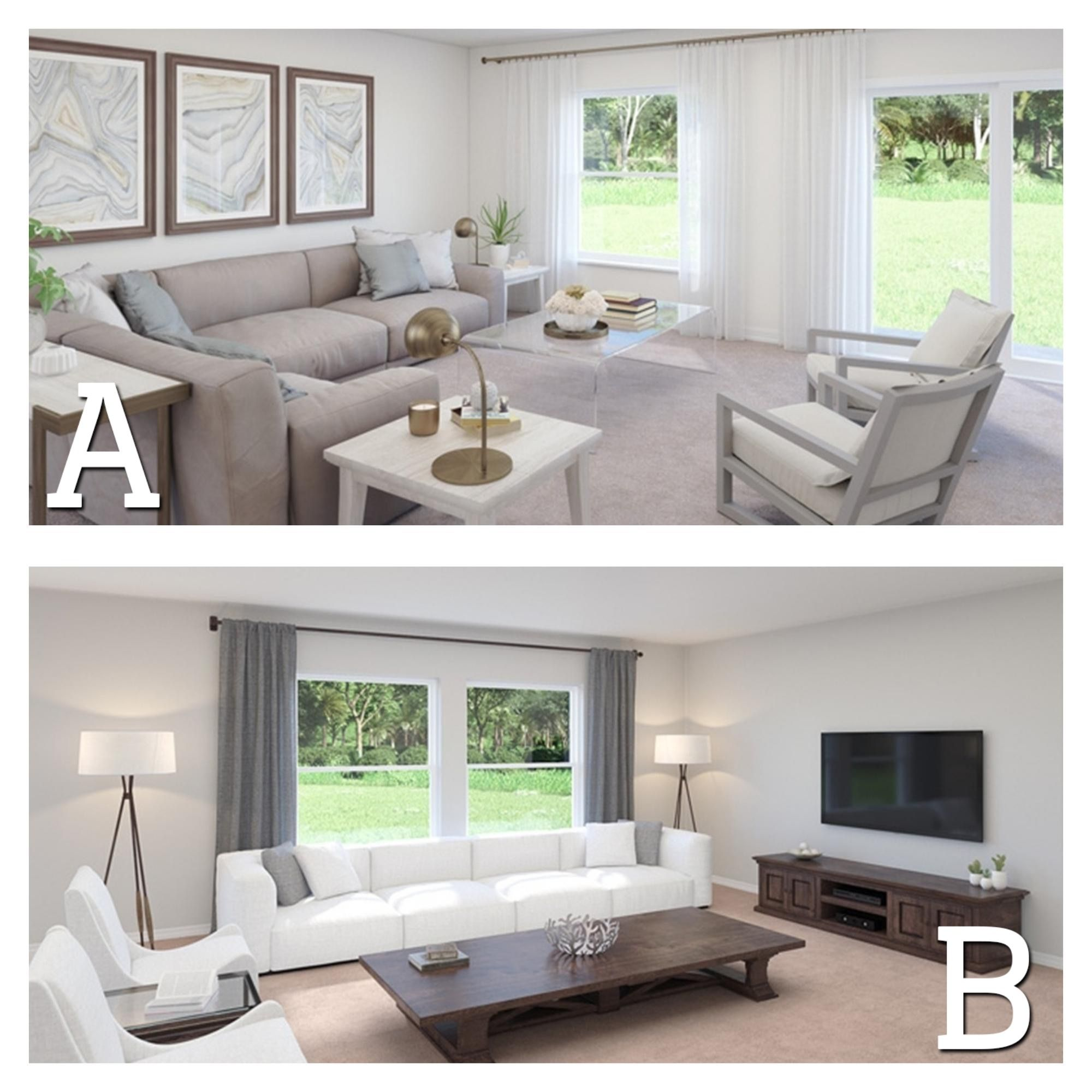 Which Living Room seating arrangement do you prefer? A ...