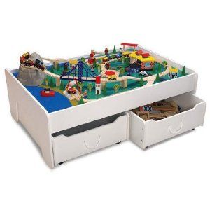 Train Table With Toy Storage Would Need A Giant Toy Room For This Toy Train Table Train Table