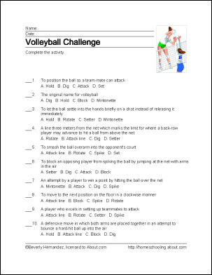 Learn About Volleyball With Free Volleyball Printables Volleyball Workouts Volleyball Practice Volleyball