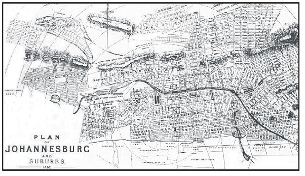 Johannesburg in 1897 Maps Pinterest