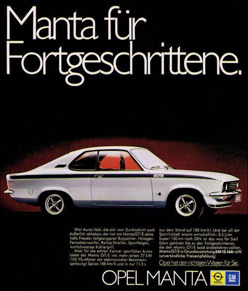 Opel Manta GT/E - Adv (1974)