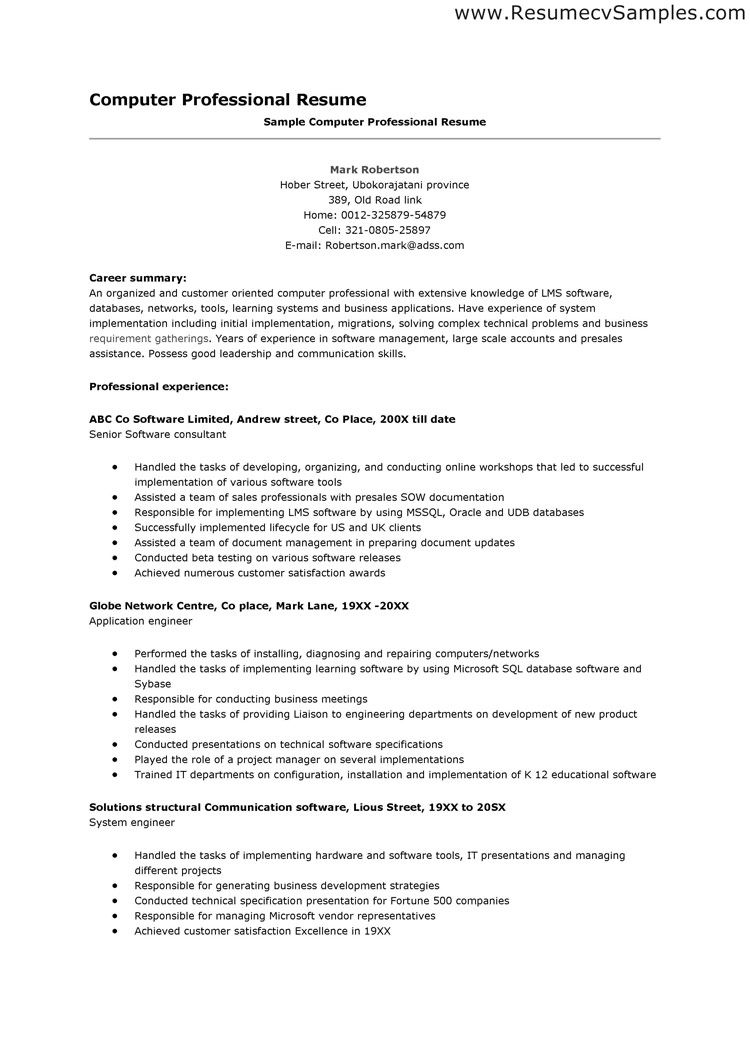 Professional Resume Cover Letter Sample Above is the