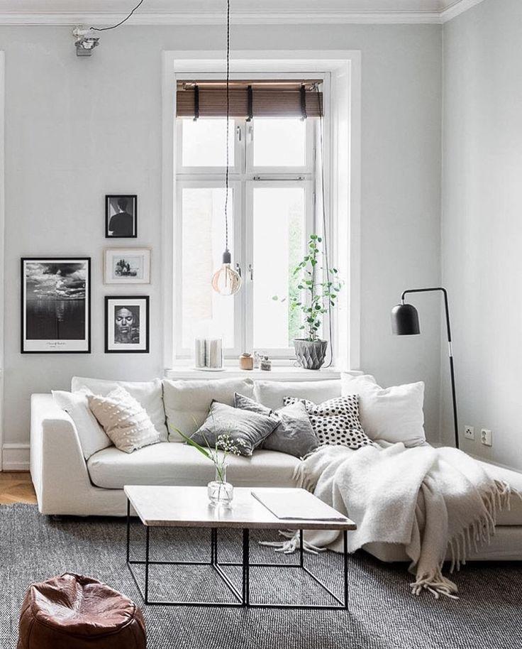 neutral living room decor interiors pinterest wohnzimmer couch und skandinavischer stil. Black Bedroom Furniture Sets. Home Design Ideas