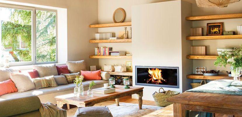 Utilizar las baldas de madera para decorar el hogar ...