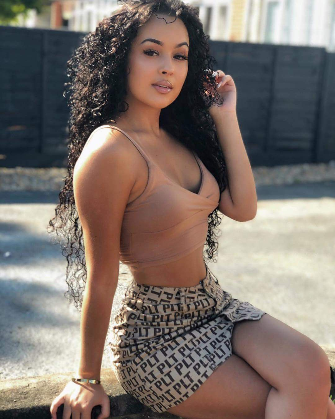 Sexy light skin black girls