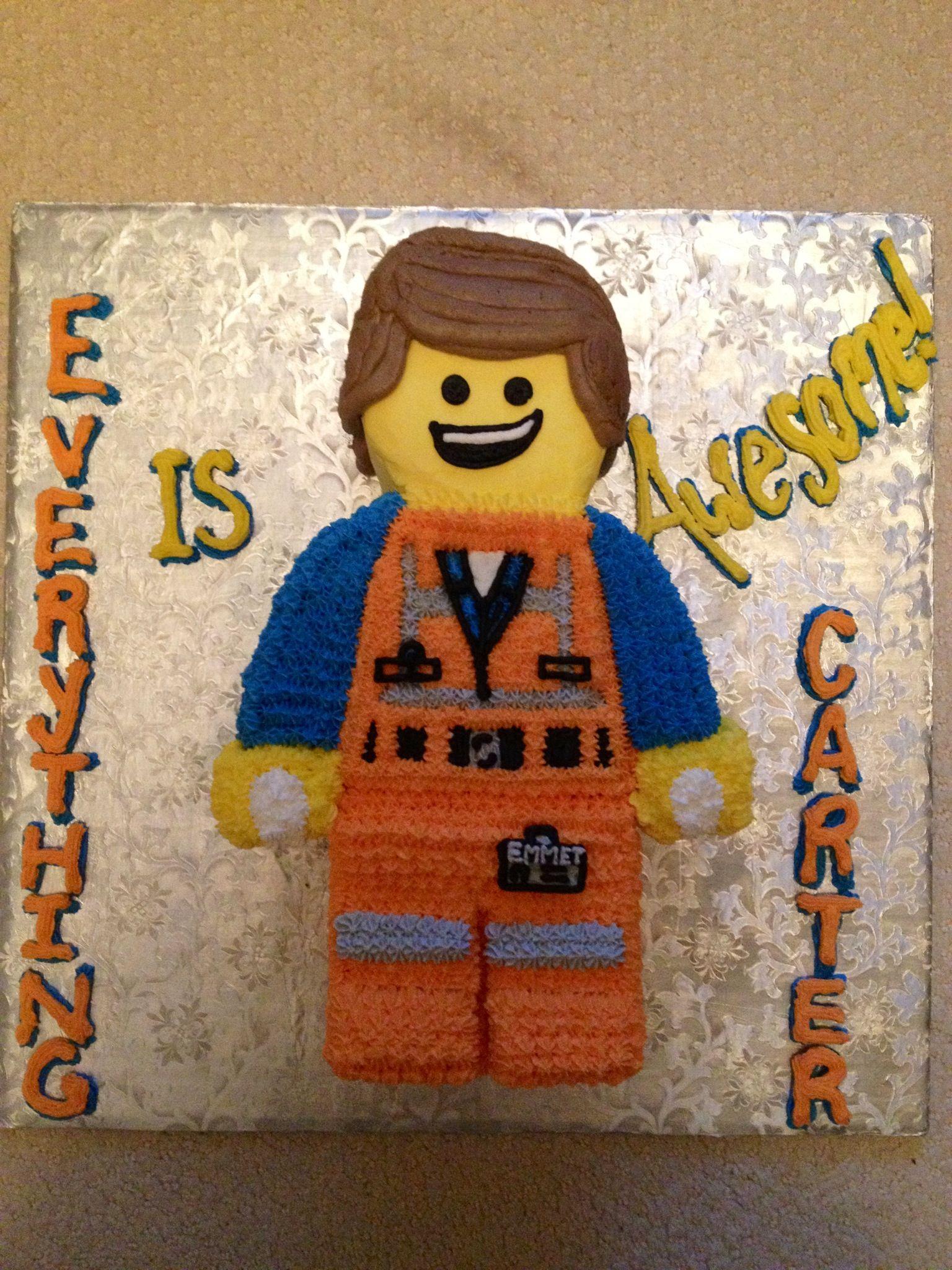Carter S 7th Birthday Cake Emmit Lego Movie No Hat In