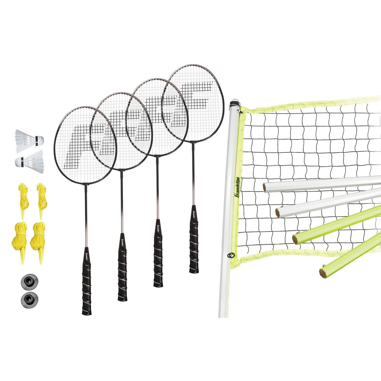 The Franklin Sports Advanced Badminton Set Has Everything You Need For Your Next Backyard Game Of Badminton This Set I Badminton Set Franklin Sports Badminton