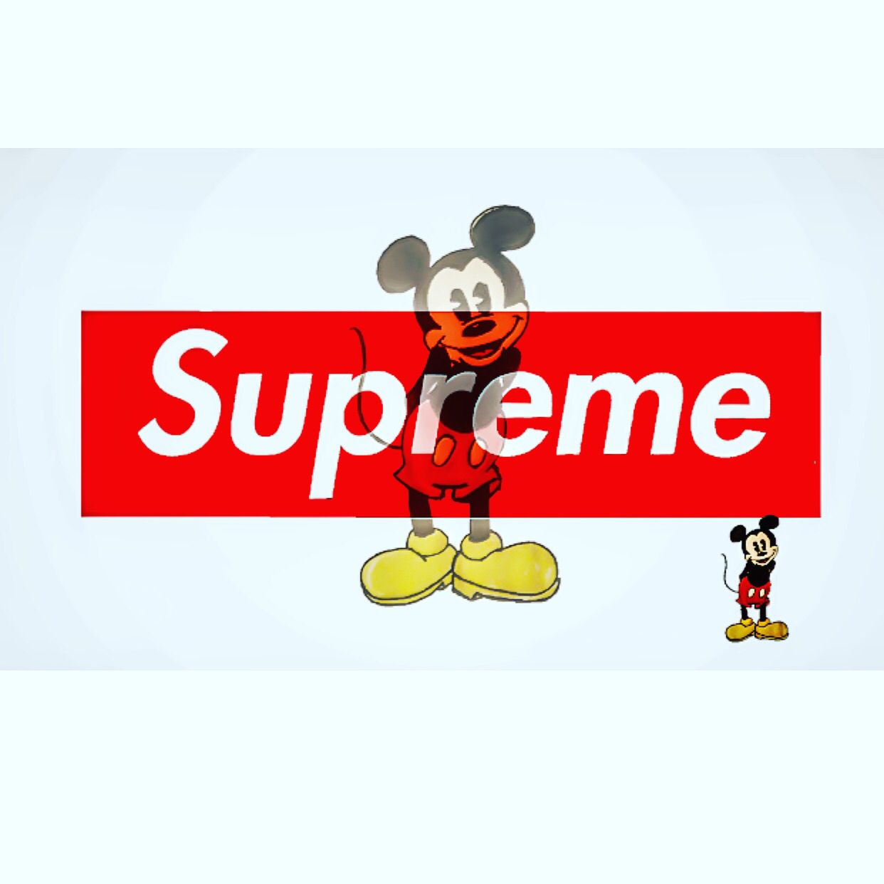 SUPREME x MICKEY MOUSE Supreme, Logos