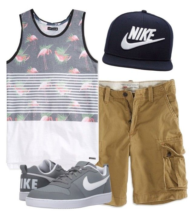 """story"" by anoai on Polyvore featuring NIKE, American Eagle Outfitters, Univibe, men's fashion and menswear"