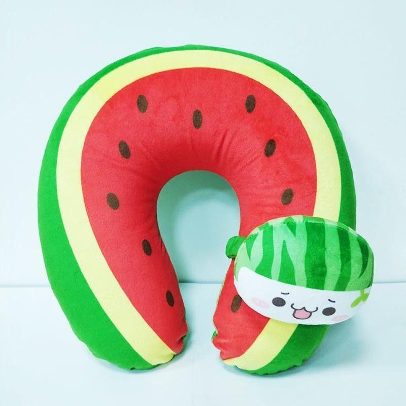 Watermelon U-shaped pillow   #pumpkinshapedcake Watermelon U-shaped pillow  Animal pattern types: dragon, tiger, leopard, lion, panda, elephant, frog, cat, pig, dog, monkey, horse, donkey, rabbit, fox, giraffe...  Fruit pattern types: strawberry, watermelon, papaya, pumpkin, gourd, melon, tomato...  Food pattern types: burger, cake, cola...  Use: Decorative, Travel, Bedding, Massage #pumpkinshapedcake