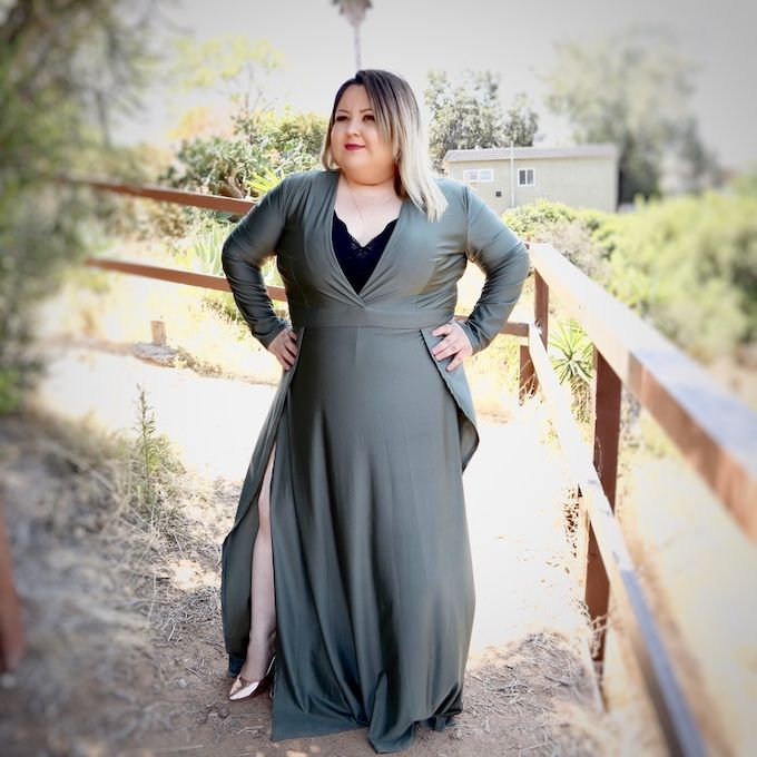 windsor maxi dress in olive green, plus size outfit, plus size ...
