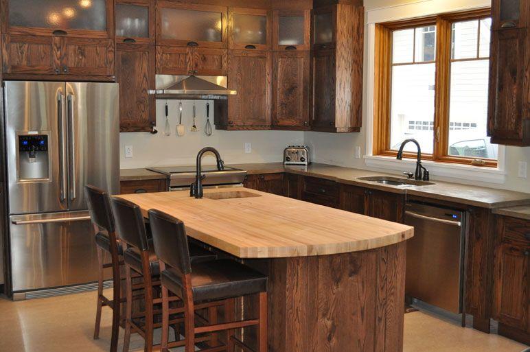 Armoire de cuisine en pin rustique recherche google reno cuisine pinterest kitchen reno - Teindre armoire de cuisine ...