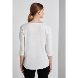 Tom Tailor Denim Damen Shirt mit Streifenmuster, weiß, Gr.S Tom TailorTom Tailor #ponchodress