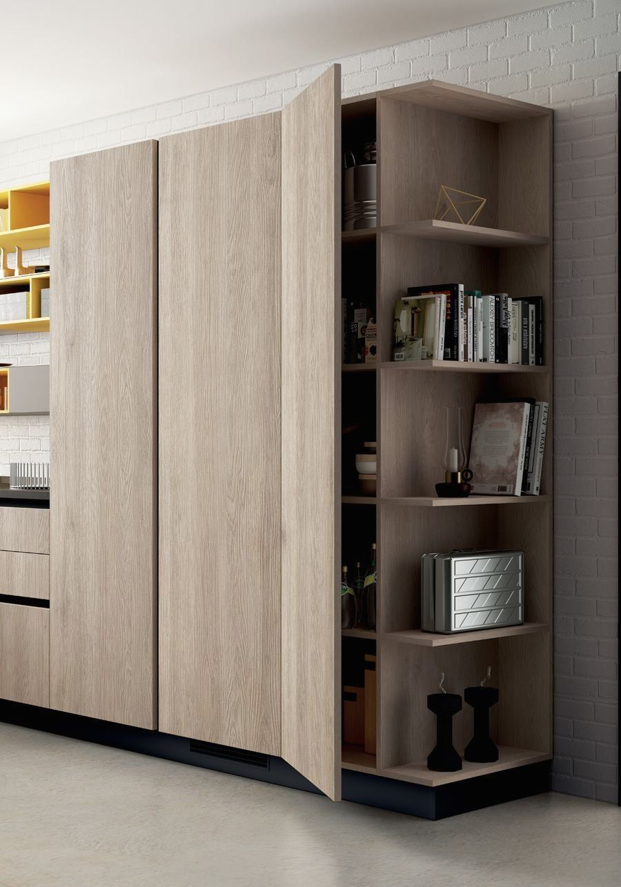 Latest Tv Unit Design: The New Open-fronted Tall Unit Effectively Contains And