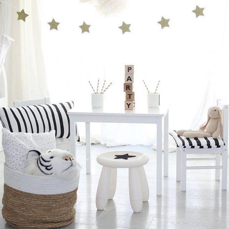 IKEA Hack in Schwarz-Weiß; super schöner Maltisch bzw. Basteltisch ...