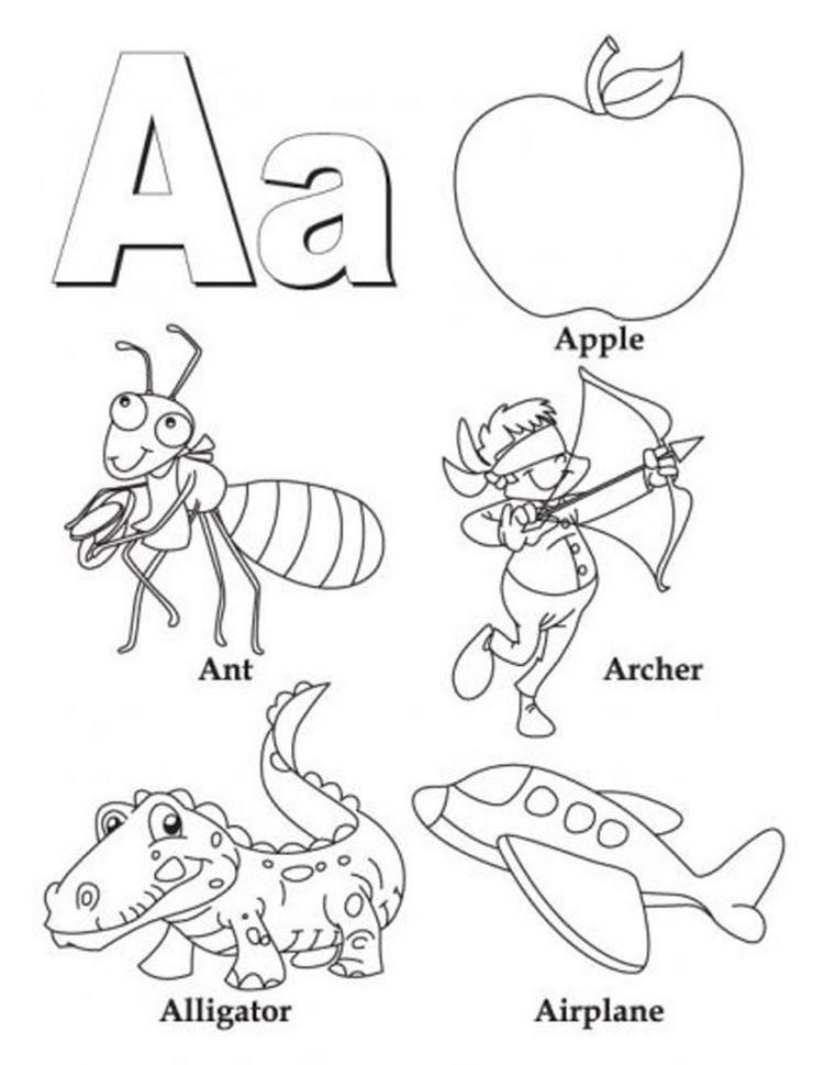 Alphabet Coloring Pages B Words Alphabet Coloring Pages Abc Coloring Letter A Coloring Pages