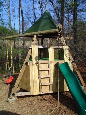 Play Structure Diy Need This Built Pronto Outdoor Creativity