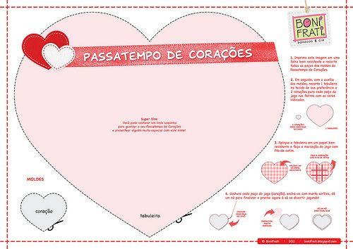 Passatempo de Corações (PAP com molde) | Faça o download, im… | Flickr