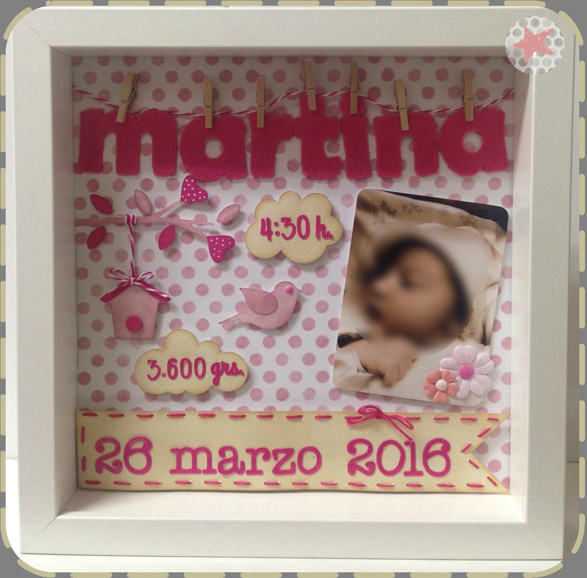 Cuadros infantiles nacimiento personalizados con nombre y for Cuadros habitacion bebe