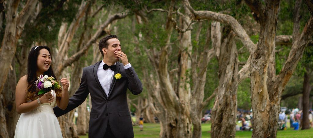 Lukas & Sol ~ Sydney Outdoor Forest DIY Summer Wedding at Centennial Park dylanmartinphotography.com