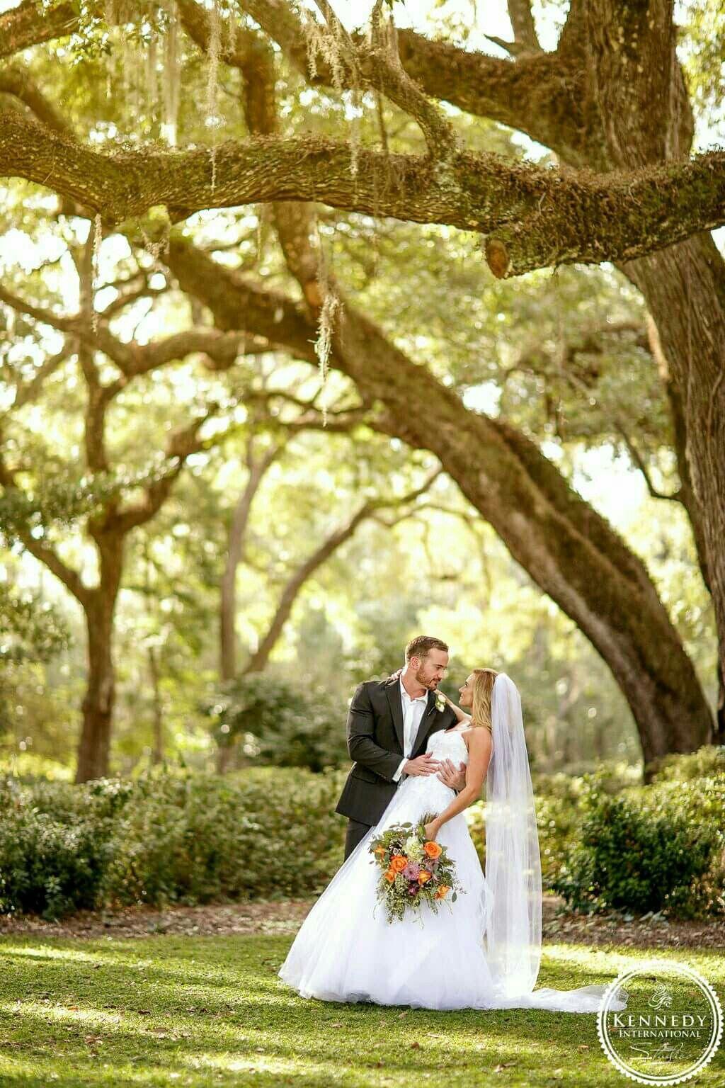 Eden Gardens State Park Oak Tree Fall Wedding Outdoor Wedding Santa Rosa Beach Florida