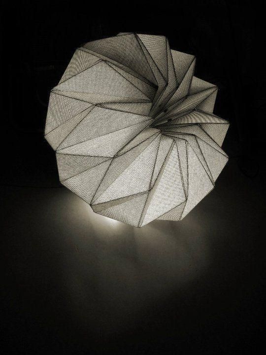 Fractales textile pendant lamps / Dario Stanziano & Batti