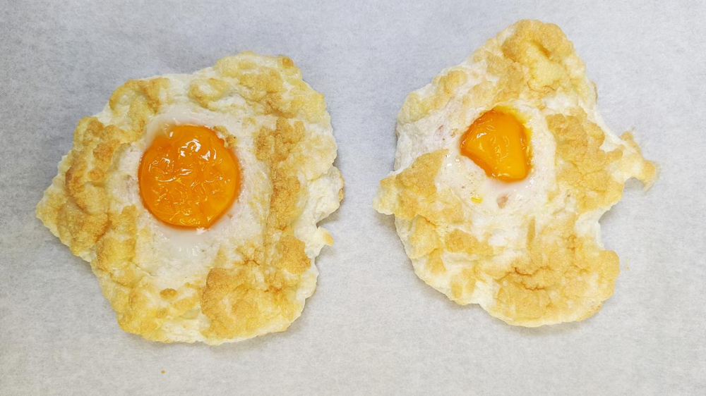 Cloud Eggs Recipe #cloudeggs Turn your eggs into a tasty, Instagram-ready breakfast with this easy recipe for Cloud Eggs. #cloudeggs