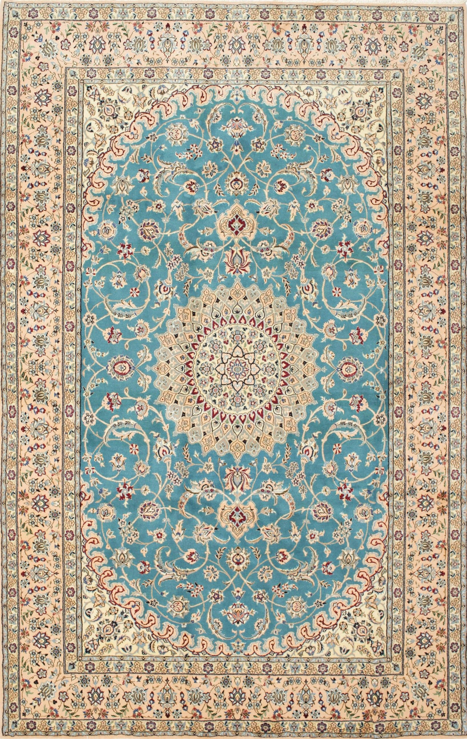 Persian Nain Rug Wool And Silk Carpet In 2019 Rugs On