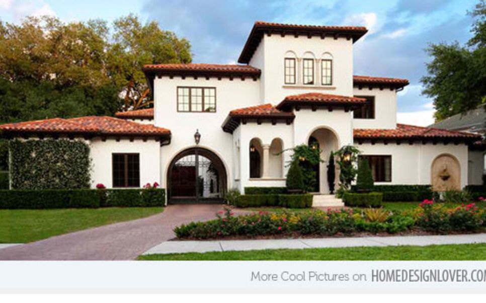 White Stucco Exterior Finish Pinterest Mediterranean Homes - Mediterranean-house-designs-exterior