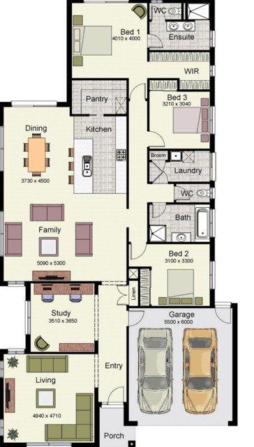 Planos de casas de 180 metros cuadrados de un piso for Casas modernas 120 metros cuadrados