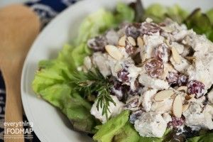 Serve a batch of this low-FODMAP chicken salad at your next party or just enjoy it for a delicious lunch.