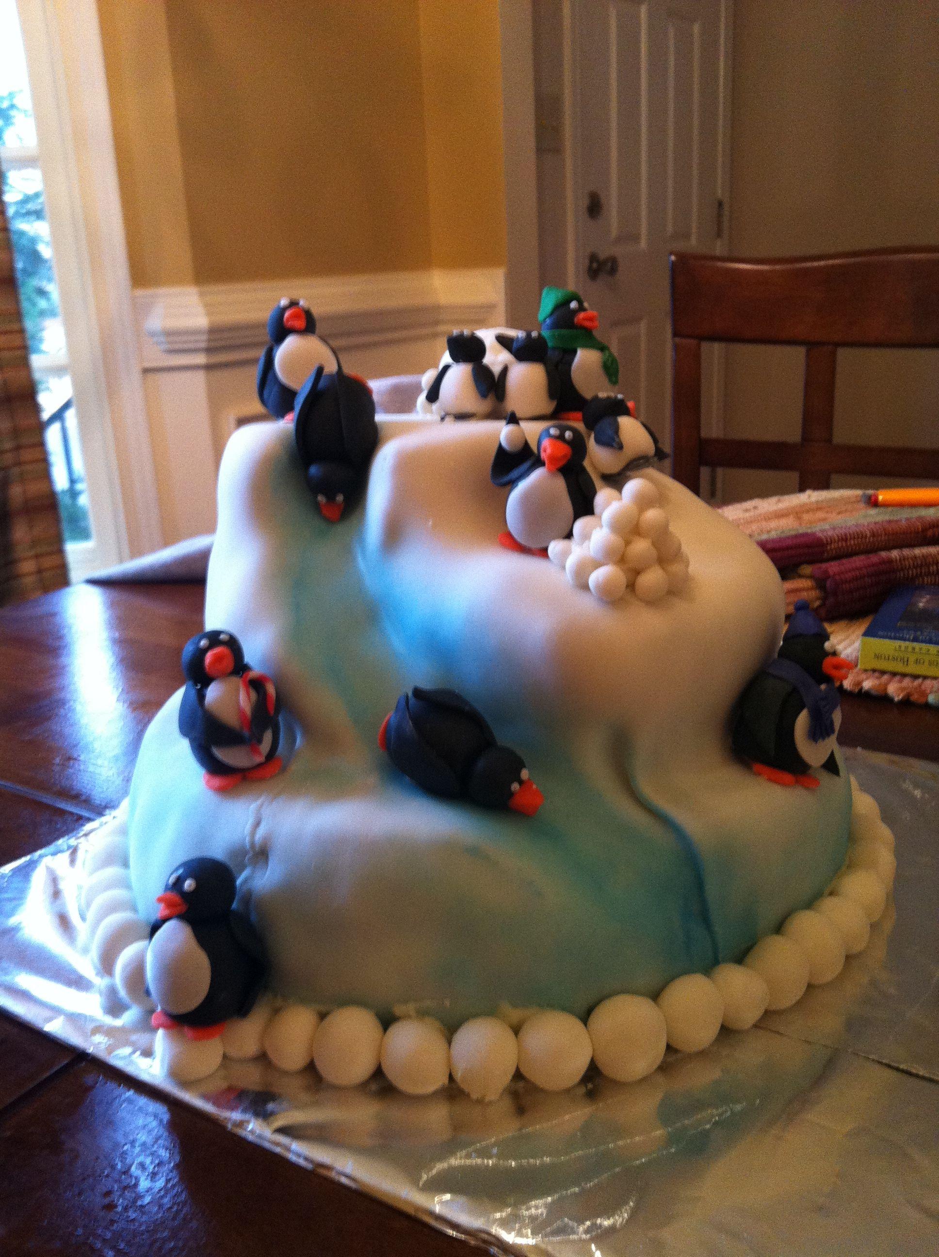 penguin cake | cakes, ...