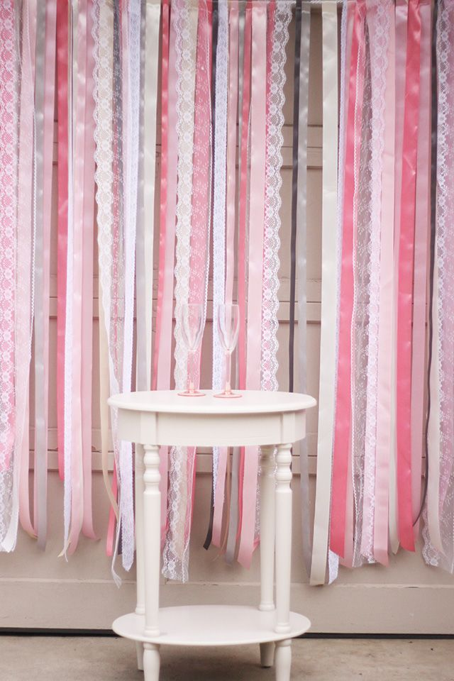 Ribbon Lace Backdrop Tutorial