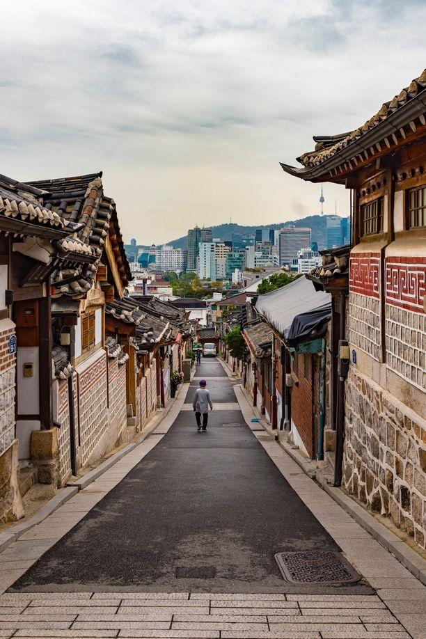 Bukchon Hanok Village, Seoul, South Korea - The houses in the...