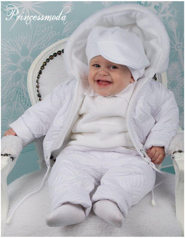 MAURIZ - Winterlicher Taufanzug in weiß! Warme Jacke und ...