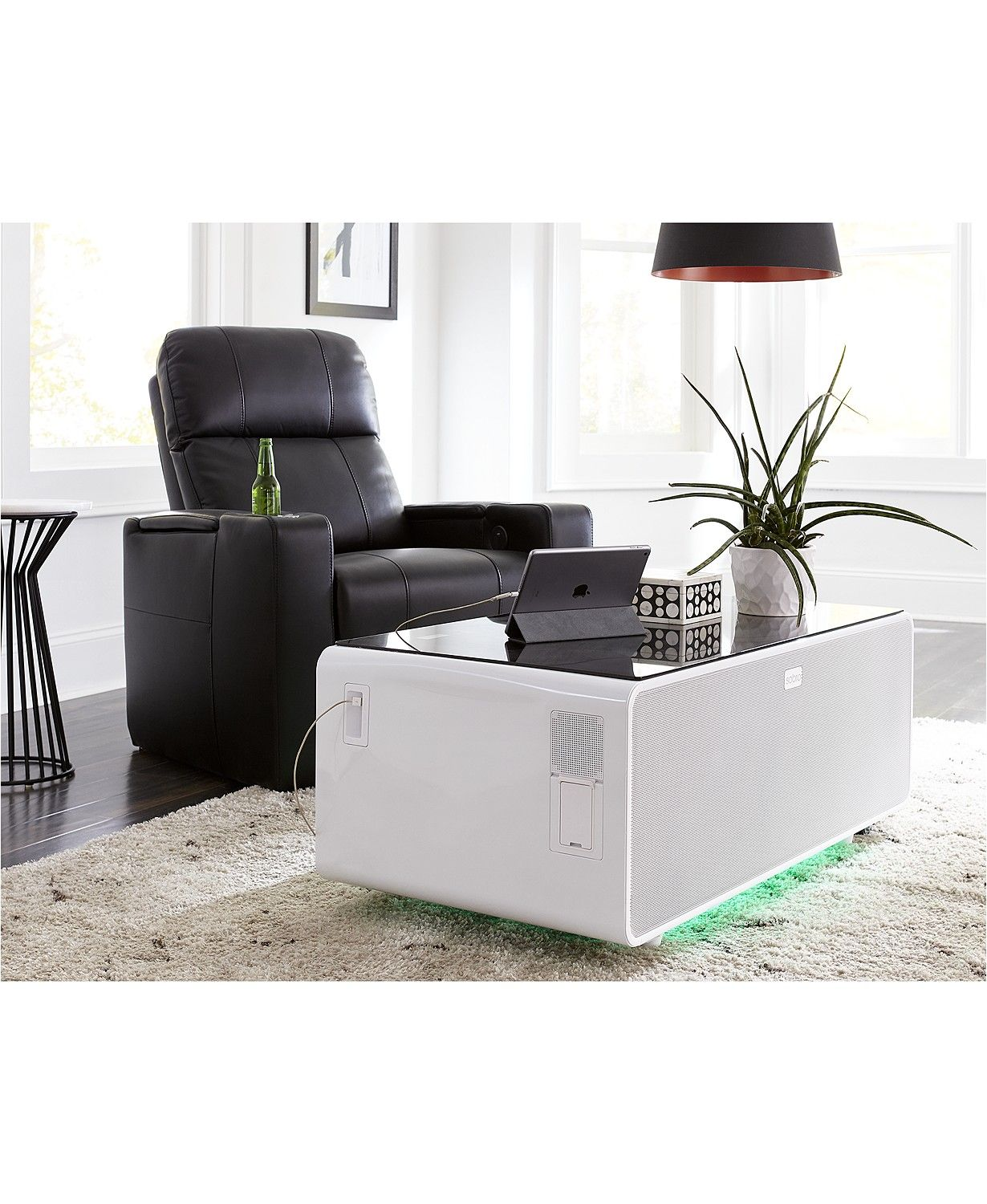 Sobro Smart Storage Coffee Table With Refrigerated Drawer Reviews Furniture Macy S In 2021 Coffee Table With Storage Smart Storage Stylish Coffee Table [ 1500 x 1230 Pixel ]