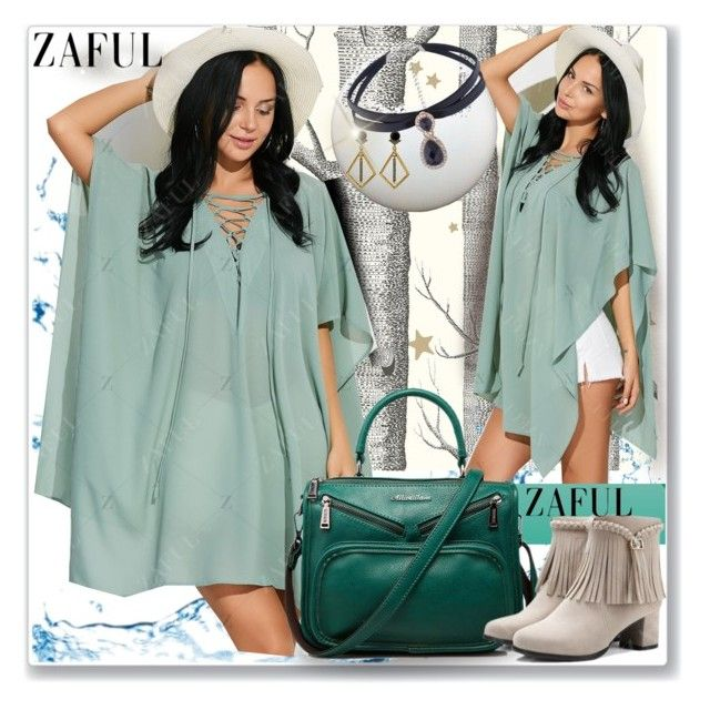 """""""Poncho Dress-zaful.com"""" by ane-twist ❤ liked on Polyvore featuring Cole & Son and zafu"""