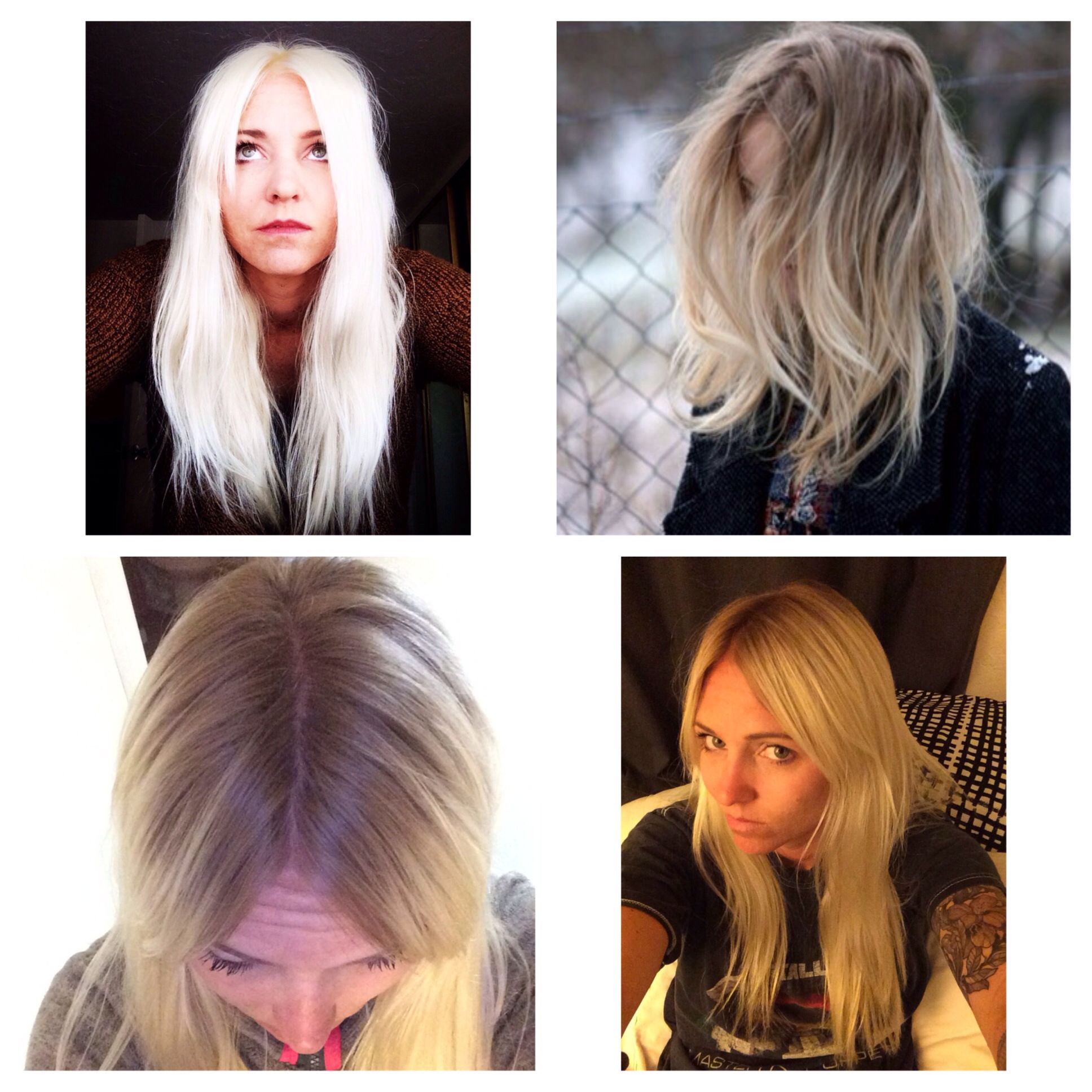 Before Platinum After A Natural Root And Creamy Pale Blonde I
