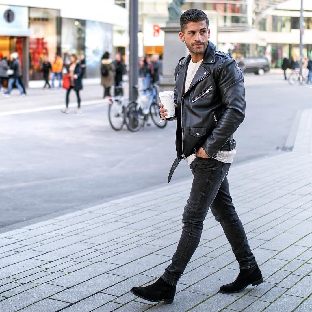12k Vind Ik Leuks 178 Reacties Art Director Influencer Kosta Williams Op Instagram Black Chelsea Boots Outfit Black Suede Chelsea Boots Leather Jacket