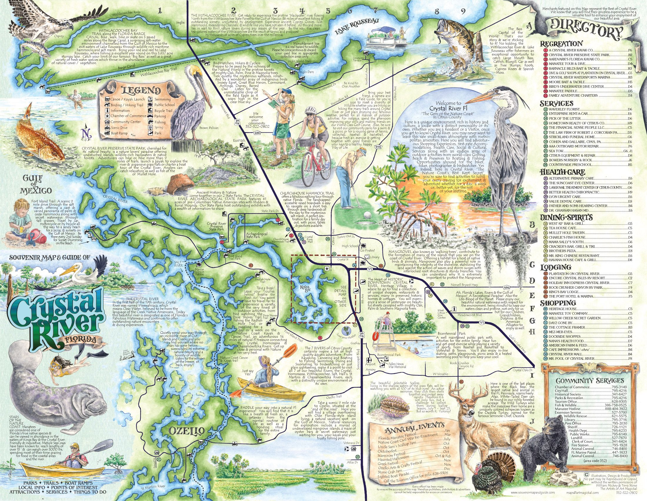 crystal rivers florida map
