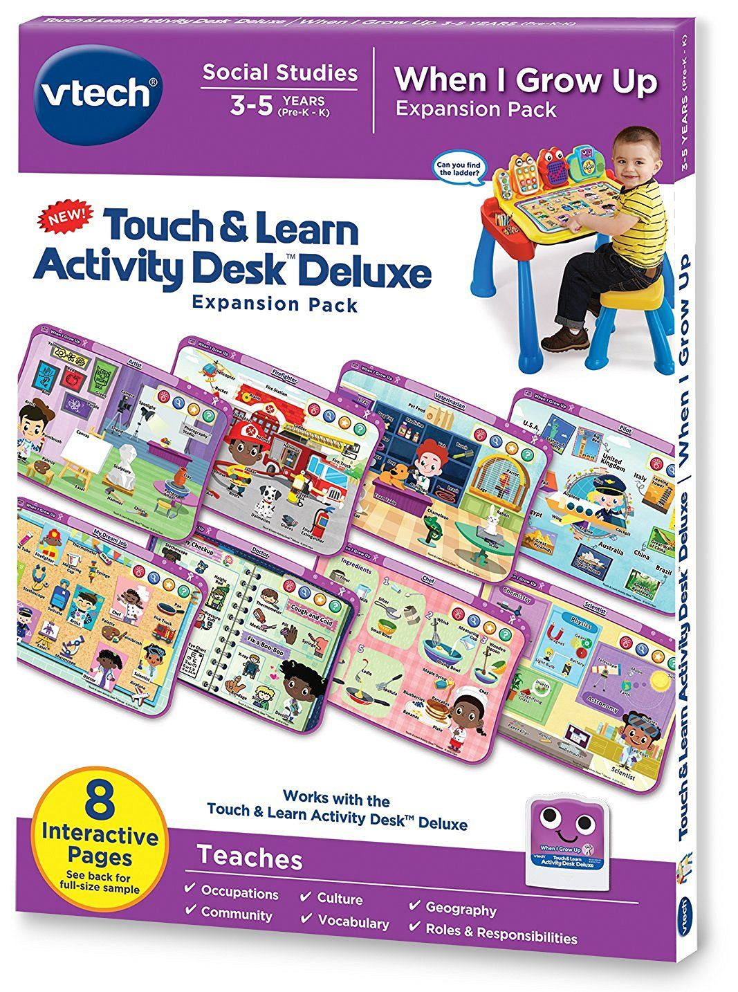 Amazonsmile Vtech Touch And Learn Activity Desk Deluxe Expansion