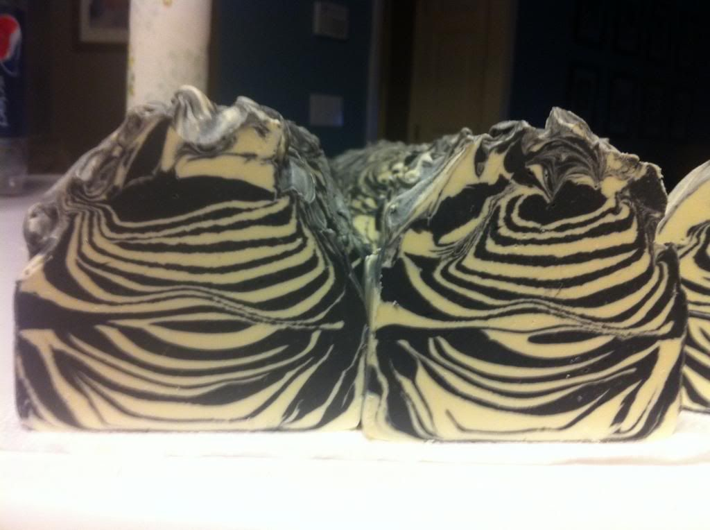 Zebra Swirl Swirl soap, Brambleberry soap, Swirls