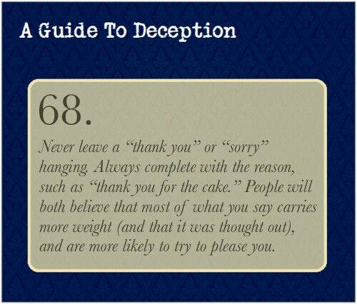005 Pin by Vania Gallardo on A Guide to Deception Guide to