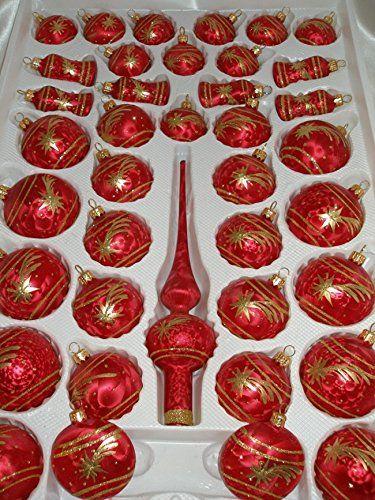 die besten 25 christbaumkugeln glas rot gold ideen auf pinterest. Black Bedroom Furniture Sets. Home Design Ideas