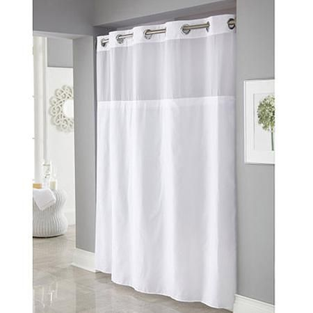 Home With Images Hookless Shower Curtain White Shower Curtain