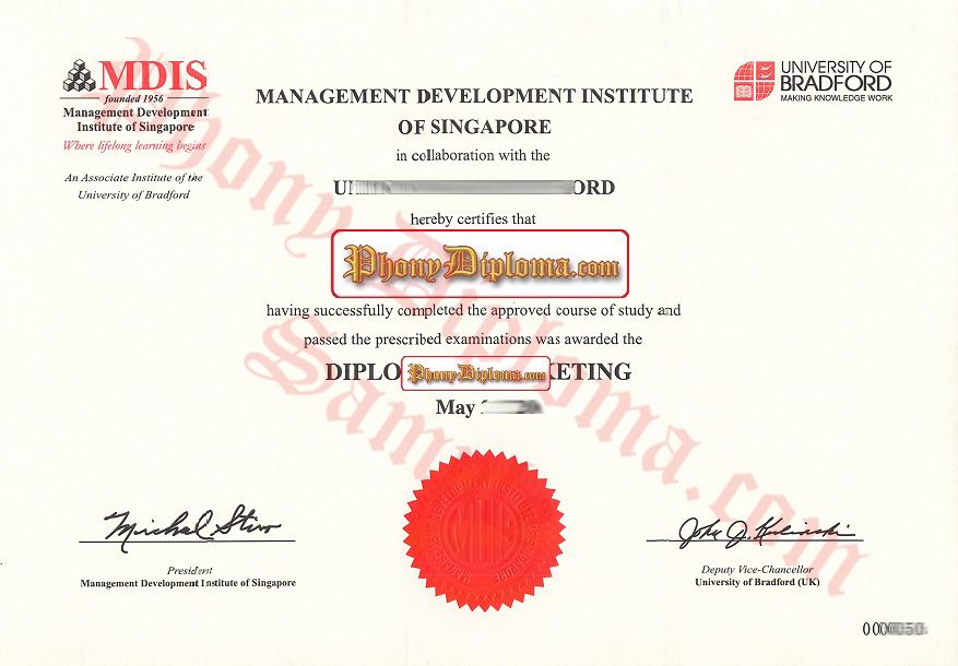 MDIS Management Development Institute Singapore Fake Diploma from - degree templates