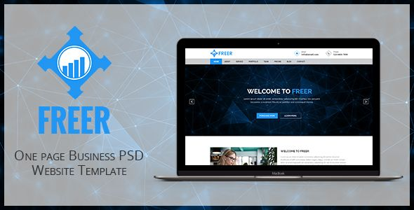 Freer one page business psd website template pinterest freer one page business psd website template by mohsinkabir description freer is a unique modern clean one page business psd website template accmission Image collections