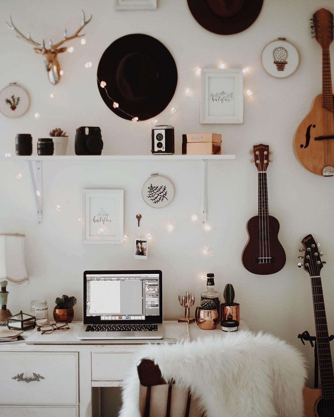 Tumblr Wall Decor Bedroom Rooms Hipster Dorm