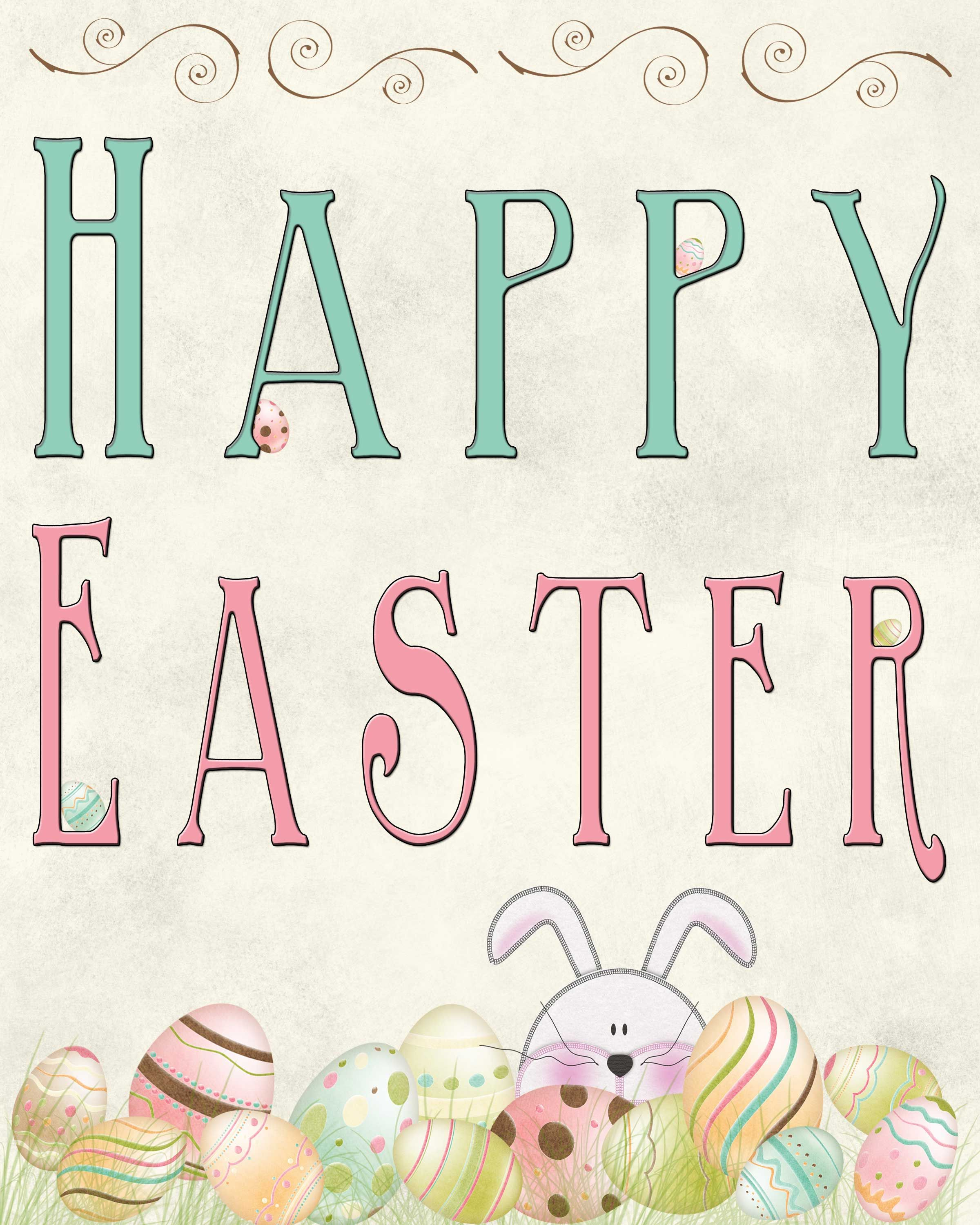 There Is Less Than 3 Weeks Before Easter Is Here It Has Really Snuck Up On Me This Year I Gue Easter Printables Free Happy Easter Printable Easter Printables