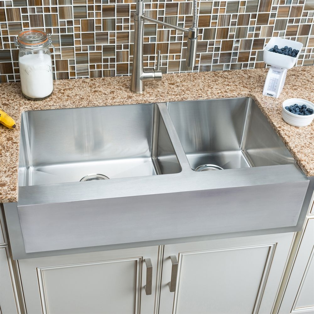 Hahn notched farmhouse kitchen sink lowes canada